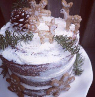 #ChristmasCake!  #Vegan #Organic #gingerbread
