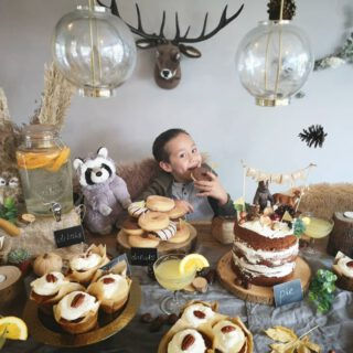 And So we Feast.. #7thBirthday  #Woodland #Woodlandparty #BohemianParty