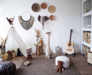 The Boho Kiddie #Crib  #Bohemian #BohemianVibe #Bloomingville #HM #HMxME #Indian #Giraffe #Fabelab #MadamStoltz #Djembe