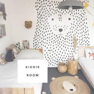 New Kiddieroom 🐻 Het is weer BerrrreGezellllig geworden🥳  #kidsroom #interior #bear #bohominicrib